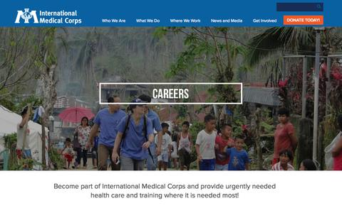 Screenshot of Jobs Page internationalmedicalcorps.org - Careers | International Medical Corps - captured Oct. 1, 2015