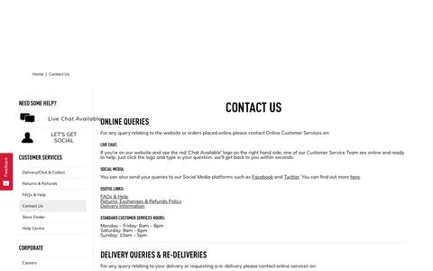 Screenshot of Contact Page theperfumeshop.com - Contact Us | The Perfume Shop - captured Oct. 15, 2019