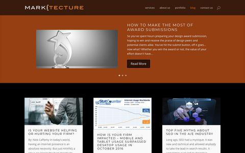 Screenshot of Blog markitectureconsulting.com - Blog | Markitecture - captured Oct. 1, 2018