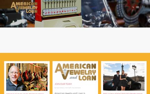 Screenshot of Blog pawndetroit.com - Hardcore Blog    American Jewelry and Loan   As Seen on Hardcore Pawn   Pawn Detroit - captured Sept. 16, 2016