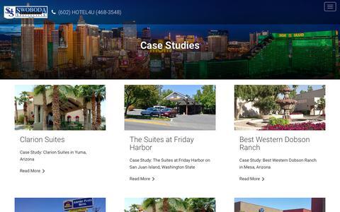 Screenshot of Case Studies Page shshotels.com - Case Studies - captured Oct. 18, 2018