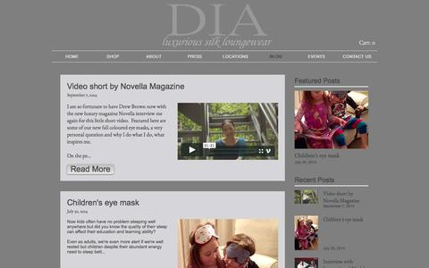 Screenshot of Blog diacollections.com - Designer Lydia's blog for DIA Collections - captured July 31, 2016