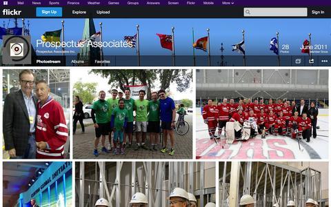 Screenshot of Flickr Page flickr.com - Flickr: Prospectus Associates Inc.'s Photostream - captured Oct. 22, 2014