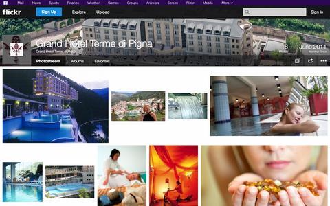 Screenshot of Flickr Page flickr.com - Flickr: Grand Hotel Terme di Pigna's Photostream - captured Oct. 23, 2014