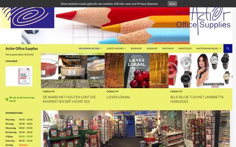 Screenshot of Home Page actior.nl - Welkom bij Actior - captured Feb. 5, 2016