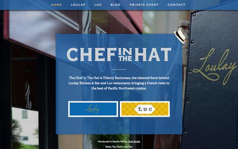 Screenshot of Home Page thechefinthehat.com - The Chef in the Hat - captured Oct. 2, 2014