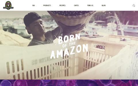 Screenshot of Home Page sambazon.com - Sambazon - captured June 17, 2015