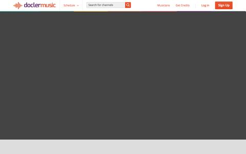 Screenshot of About Page doclermusic.com - DoclerMusic | Live music - captured Sept. 19, 2014