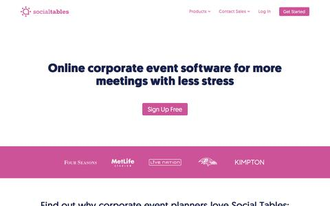 The #1 Corporate Event Planning Software | Social Tables