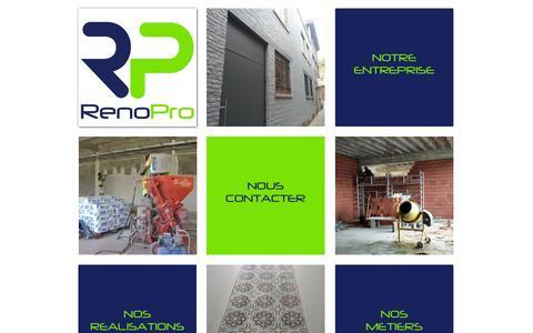 Screenshot of Home Page renopro.eu - Votre partenaire rénovation, parachèvement, sur Liège et sa Région - captured Oct. 6, 2014