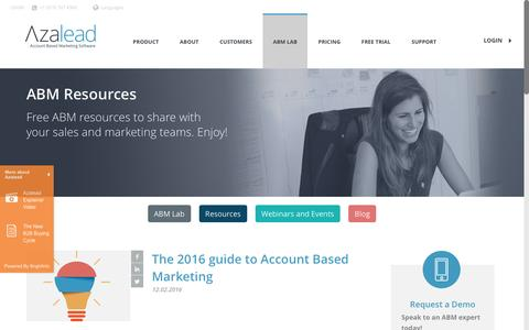 ABM Resources - Azalead - Account Based Marketing Software