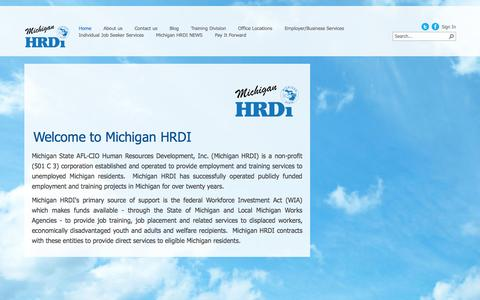 Screenshot of Home Page mhrdi.org - Home - captured Oct. 8, 2014