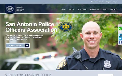 Screenshot of Home Page sapoa.org - Home | San Antonio Police Officers Association - captured Jan. 27, 2015