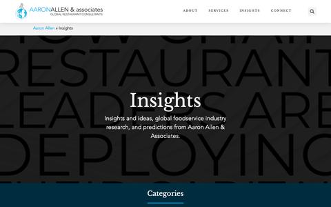 Screenshot of Blog aaronallen.com - Blog - Aaron Allen & Associates, Global Restaurant Consultants - captured Oct. 2, 2018