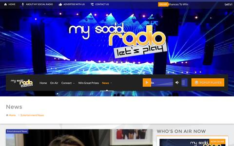 Screenshot of Press Page mysocialradio.com - News – My Social Radio - captured Aug. 14, 2016