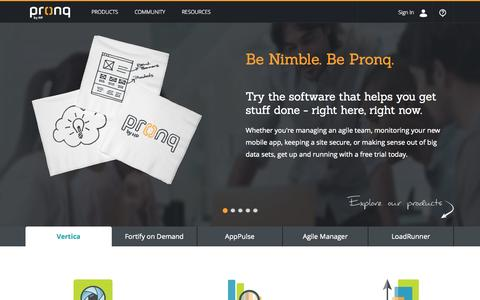 Screenshot of Home Page pronq.com - Pronq By HP - captured Sept. 19, 2014