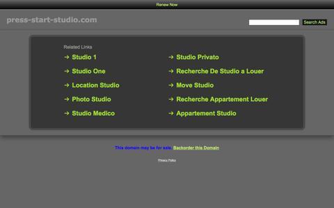 Screenshot of Home Page press-start-studio.com - Press-Start-Studio.com - captured May 21, 2017