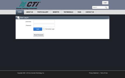 Screenshot of Login Page flycti.com - User Log In - captured Oct. 2, 2014