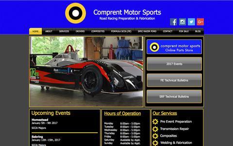 Screenshot of Home Page comprent.net - Comprent Motor Sports | Road Racing | Athens, Georgia - captured Aug. 19, 2017