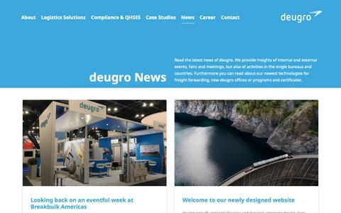 Screenshot of Press Page deugro.com - News   deugro   Project Freight Forwarding - captured Nov. 6, 2018