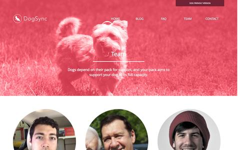 Screenshot of Team Page dogsync.com - DogSync - Our team - captured Oct. 11, 2015