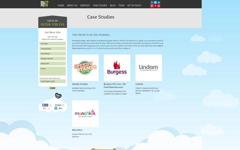 Screenshot of Case Studies Page bigfootdigital.co.uk - Case Studies Archive - - captured Oct. 10, 2014