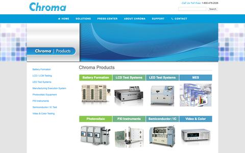 Screenshot of Products Page chromaus.com - All Products | Chroma ATE - Automated Testing Equipment - captured Nov. 10, 2018
