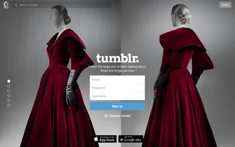 Screenshot of Signup Page tumblr.com - Sign up | Tumblr - captured Dec. 26, 2015