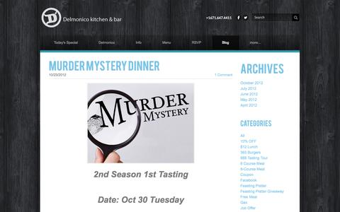 Screenshot of Blog dkbguam.com - Delmonico Kitchen & Bar - Blog - captured Oct. 5, 2014
