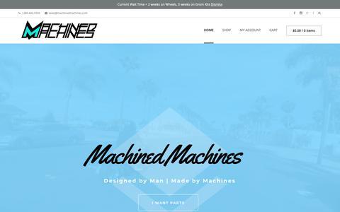 Screenshot of Home Page machinedmachines.com - Home - Machined MachinesMachined Machines | Designed by Man, Made by Machine. Honda Ruckus and Grom Wheels - captured Nov. 15, 2018