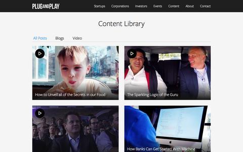 Screenshot of Blog plugandplaytechcenter.com - Content - Plug and Play Tech Center – Startup Innovation Platform - captured May 19, 2017