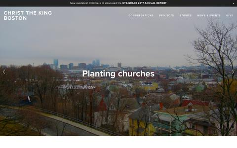 Screenshot of Home Page ctkboston.org - Christ the King Boston - captured Sept. 28, 2018