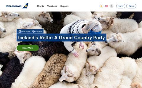 Screenshot of Blog icelandair.com - Blog   Icelandair - captured Sept. 12, 2018