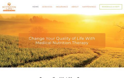 Screenshot of Home Page nutritionforlifeinc.com - Nutrition for Life Inc. - captured Dec. 11, 2018