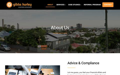 Screenshot of About Page gibbsca.com.au - About - Gibbs Hurley Pty Ltd - captured Nov. 10, 2018