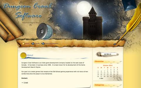Screenshot of About Page dungeon-crawl.com - About  |  Dungeon Crawl Software - captured Oct. 5, 2014