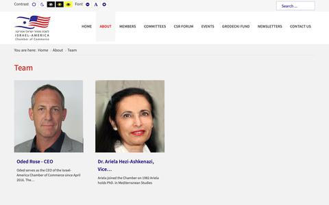 Screenshot of Team Page amcham.co.il - The Israel-America Chamber of Commerce - Team - captured Dec. 20, 2018