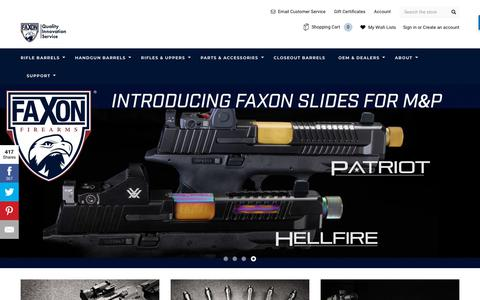 Screenshot of Home Page faxonfirearms.com - Faxon Firearms - captured Nov. 4, 2018