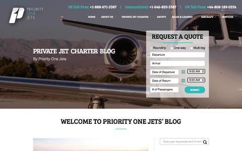 Screenshot of Blog priorityonejets.com - Private Jet Charter Blog | Priority One Jets - captured July 24, 2015