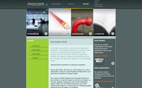 Screenshot of Support Page mocom.at - Mocom : Support - captured Oct. 3, 2014
