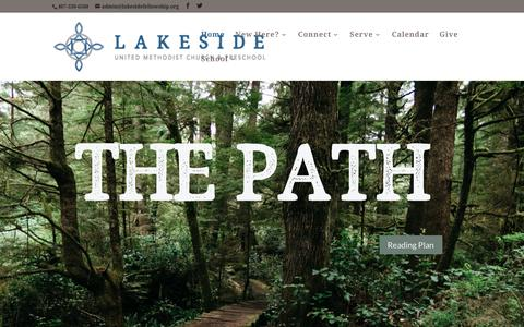 Screenshot of Home Page lakesidefellowship.org - Lakeside Fellowship United Methodist Church and Preschool in Sanford, Fl - captured Jan. 21, 2017