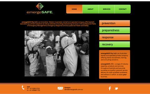 Screenshot of Home Page emergesafe.com.au - Home - captured Sept. 20, 2017