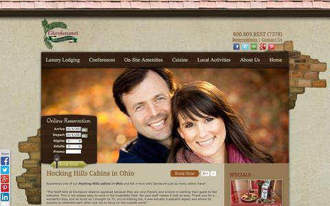 Screenshot of Testimonials Page glenlaurel.com - Hocking Hills Cabins in Ohio :: Testimonials :: Glenlaurel - captured Oct. 2, 2014