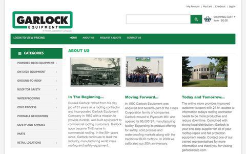Screenshot of About Page garlockequip.com - About Us | Garlock Equipment Company - captured Oct. 27, 2016