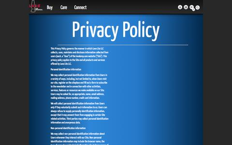 Screenshot of Privacy Page lavalamp.com - Lava Lamp - The official site of Lava Lamp. Privacy Policy - captured Sept. 23, 2014