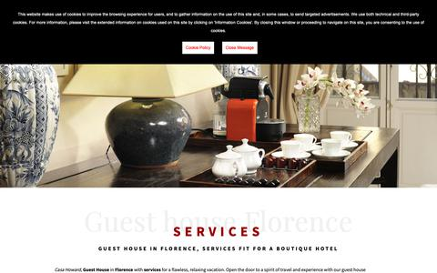 Screenshot of Services Page casahoward.com - Guest house Florence services - Guest house Florence - captured Oct. 21, 2018
