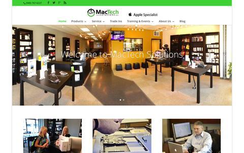Screenshot of Home Page mactech-solutions.com - MacTech Solutions | MacTech Solutions Apple Specialist - captured Aug. 2, 2015