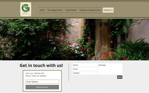 Screenshot of Contact Page greenroofagency.com - Geen Roof Agency | Contact Us | Subscribe - captured May 24, 2017