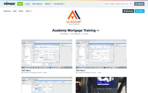 Academy Mortgage Training on Vimeo