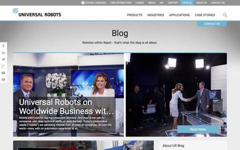 The Universal robots blog - about collaborative robots